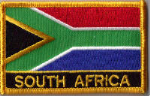 South Africa Embroidered Flag Patch, style 09.